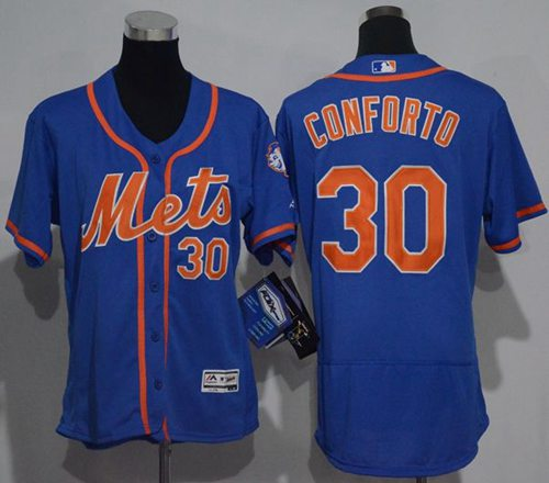 Mets #30 Michael Conforto Blue Flexbase Authentic Women's Stitched MLB Jersey
