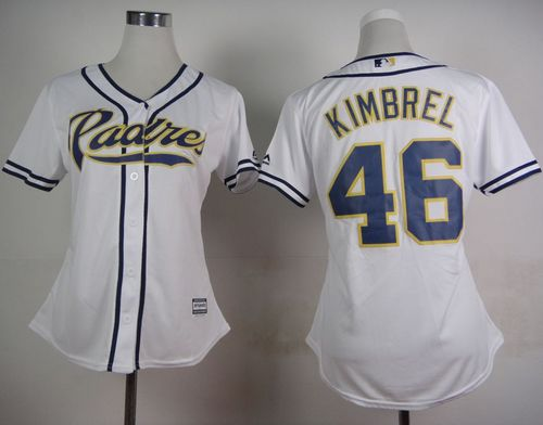 Padres #46 Craig Kimbrel White Home Women's Stitched MLB Jersey