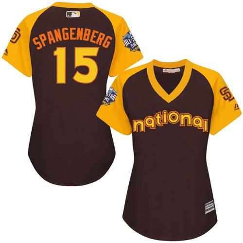 Padres #15 Cory Spangenberg Brown 2016 All-Star National League Women's Stitched MLB Jersey