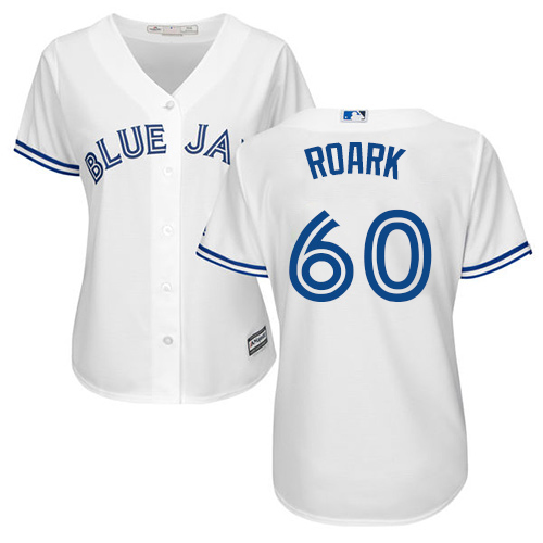 Blue Jays #60 Tanner Roark White Home Women's Stitched MLB Jersey