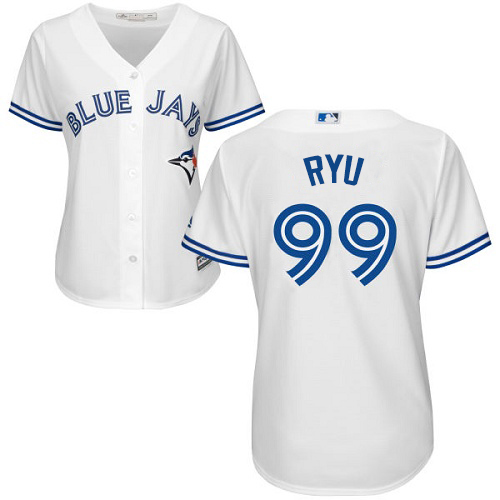 Blue Jays #99 Hyun-Jin Ryu White Home Women's Stitched MLB Jersey