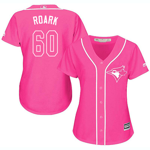 Blue Jays #60 Tanner Roark Pink Fashion Women's Stitched MLB Jersey
