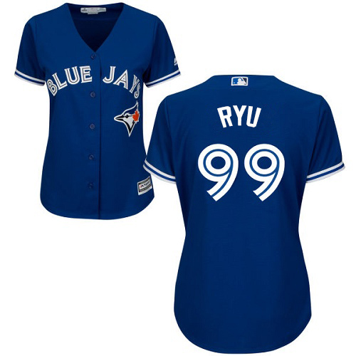 Blue Jays #99 Hyun-Jin Ryu Blue Alternate Women's Stitched MLB Jersey
