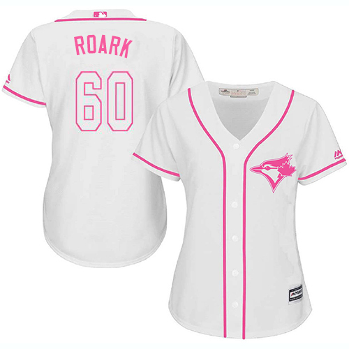 Blue Jays #60 Tanner Roark White/Pink Fashion Women's Stitched MLB Jersey