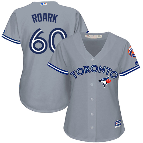 Blue Jays #60 Tanner Roark Grey Road Women's Stitched MLB Jersey