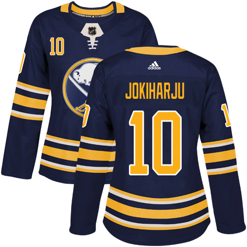 Adidas Sabres #10 Henri Jokiharju Navy Blue Home Authentic Women's Stitched NHL Jersey