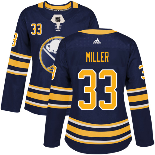 Adidas Sabres #33 Colin Miller Navy Blue Home Authentic Women's Stitched NHL Jersey