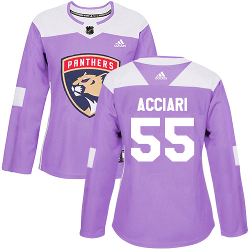 Adidas Panthers #55 Noel Acciari Purple Authentic Fights Cancer Women's Stitched NHL Jersey