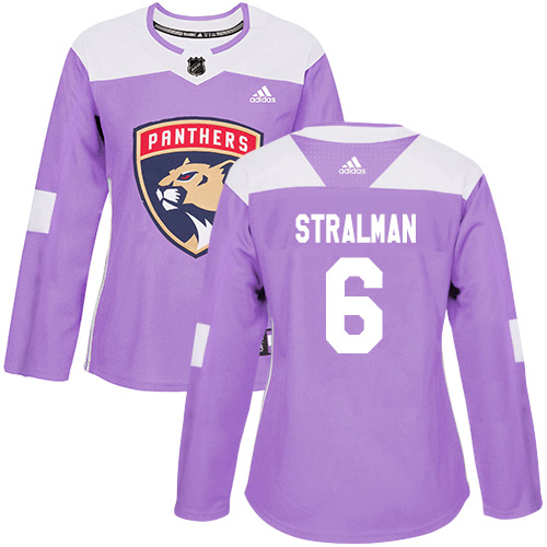 Adidas Panthers #6 Anton Stralman Purple Authentic Fights Cancer Women's Stitched NHL Jersey