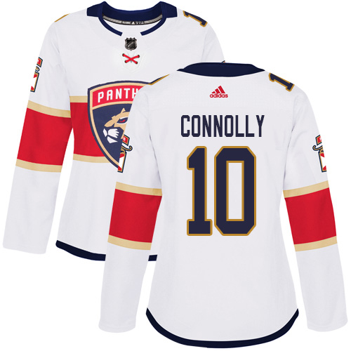 Adidas Panthers #10 Brett Connolly White Road Authentic Women's Stitched NHL Jersey