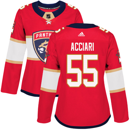 Adidas Panthers #55 Noel Acciari Red Home Authentic Women's Stitched NHL Jersey
