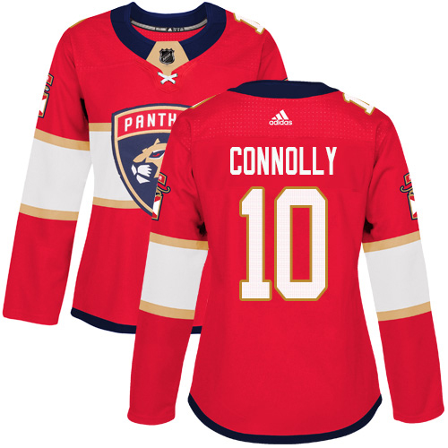 Adidas Panthers #10 Brett Connolly Red Home Authentic Women's Stitched NHL Jersey