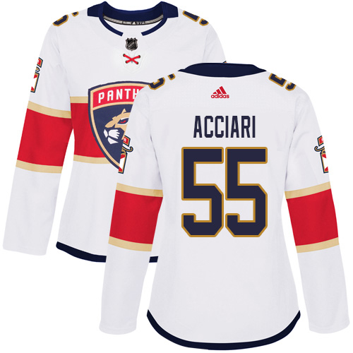 Adidas Panthers #55 Noel Acciari White Road Authentic Women's Stitched NHL Jersey