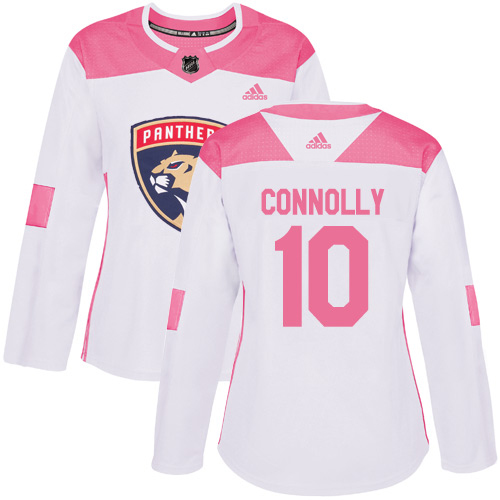 Adidas Panthers #10 Brett Connolly White/Pink Authentic Fashion Women's Stitched NHL Jersey