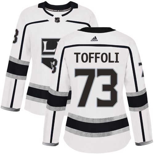 Adidas Kings #73 Tyler Toffoli White Road Authentic Women's Stitched NHL Jersey