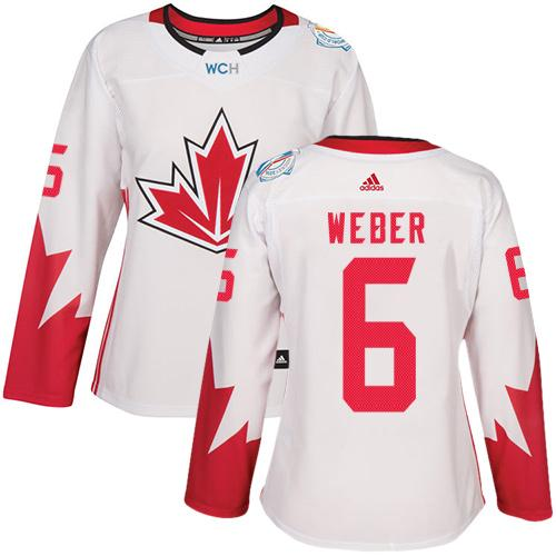 Team Canada #6 Shea Weber White 2016 World Cup Women's Stitched NHL Jersey