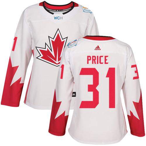 Team Canada #31 Carey Price White 2016 World Cup Women's Stitched NHL Jersey