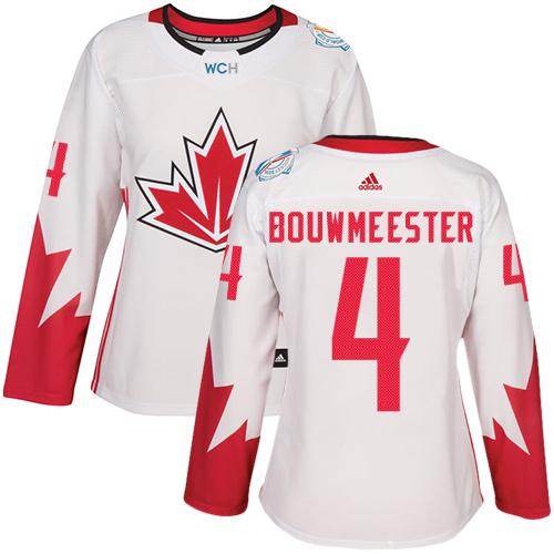 Team Canada #4 Jay Bouwmeester White 2016 World Cup Women's Stitched NHL Jersey