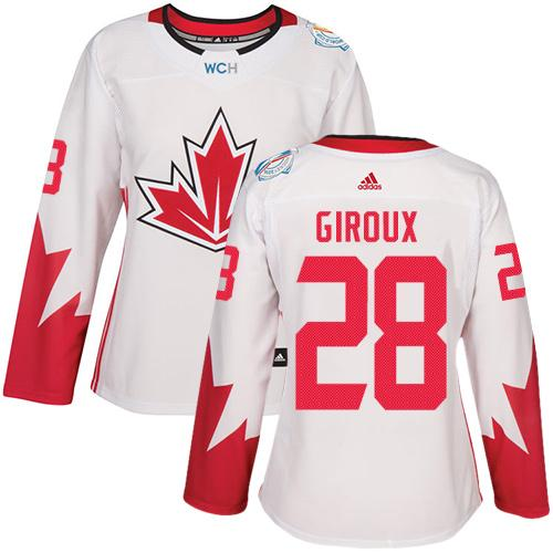 Team Canada #28 Claude Giroux White 2016 World Cup Women's Stitched NHL Jersey