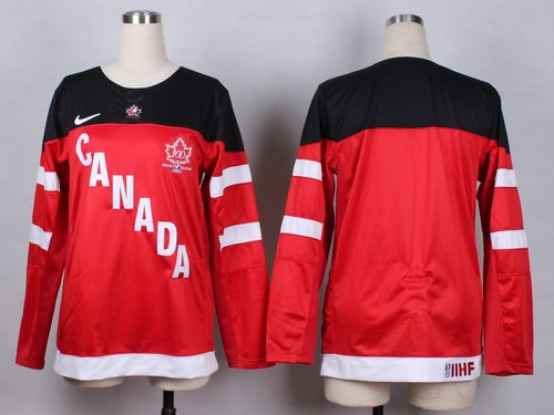 Team Canada Blank Red 100th Anniversary Women's Stitched NHL Jersey