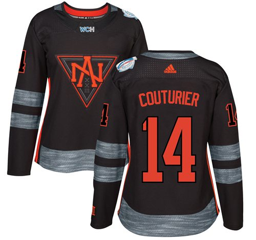 Team North America #14 Sean Couturier Black 2016 World Cup Women's Stitched NHL Jersey
