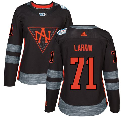 Team North America #71 Dylan Larkin Black 2016 World Cup Women's Stitched NHL Jersey