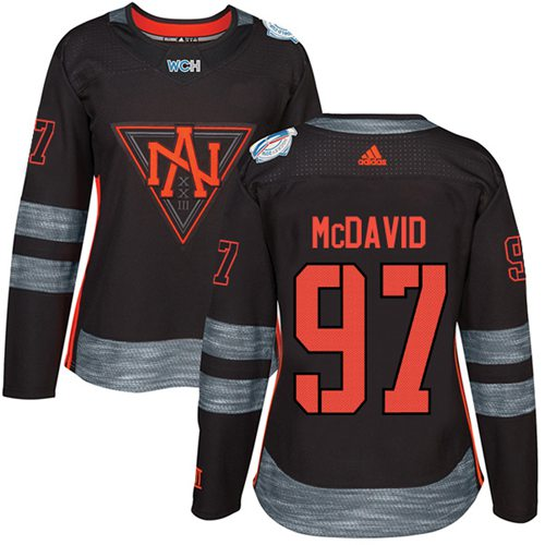 Team North America #97 Connor McDavid Black 2016 World Cup Women's Stitched NHL Jersey