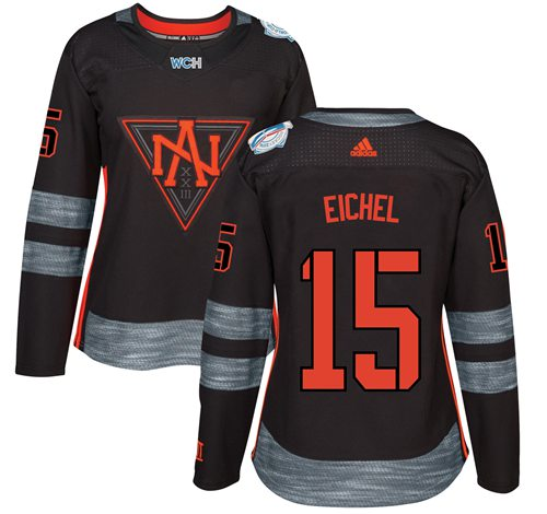 Team North America #15 Jack Eichel Black 2016 World Cup Women's Stitched NHL Jersey