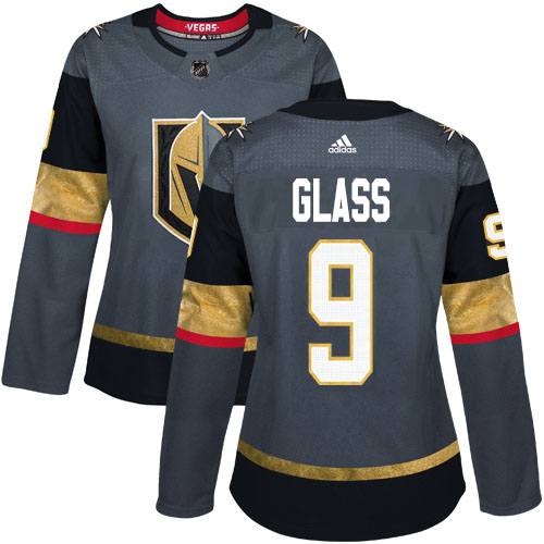 Adidas Golden Knights #9 Cody Glass Grey Home Authentic Women's Stitched NHL Jersey