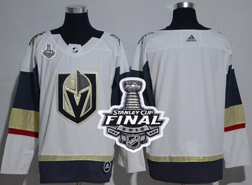 Adidas Golden Knights Blank White Road Authentic 2018 Stanley Cup Final Women's Stitched NHL Jersey