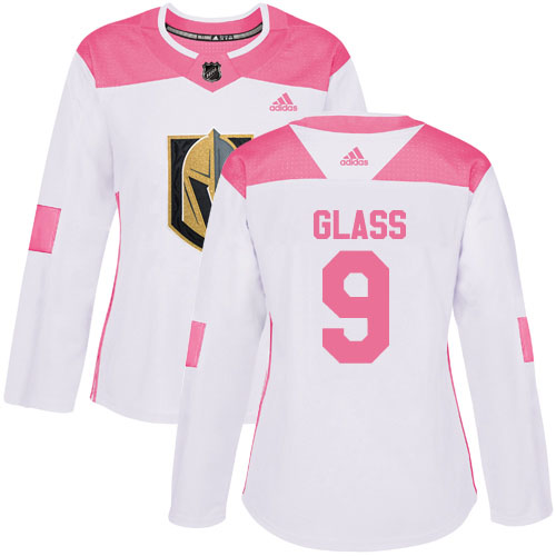 Adidas Golden Knights #9 Cody Glass White/Pink Authentic Fashion Women's Stitched NHL Jersey