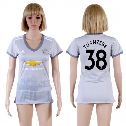 Women's Manchester United #38 Tuanzebe Sec Away Soccer Club Jersey