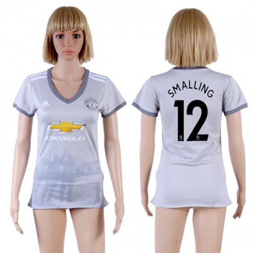 Women's Manchester United #12 Smalling Sec Away Soccer Club Jersey