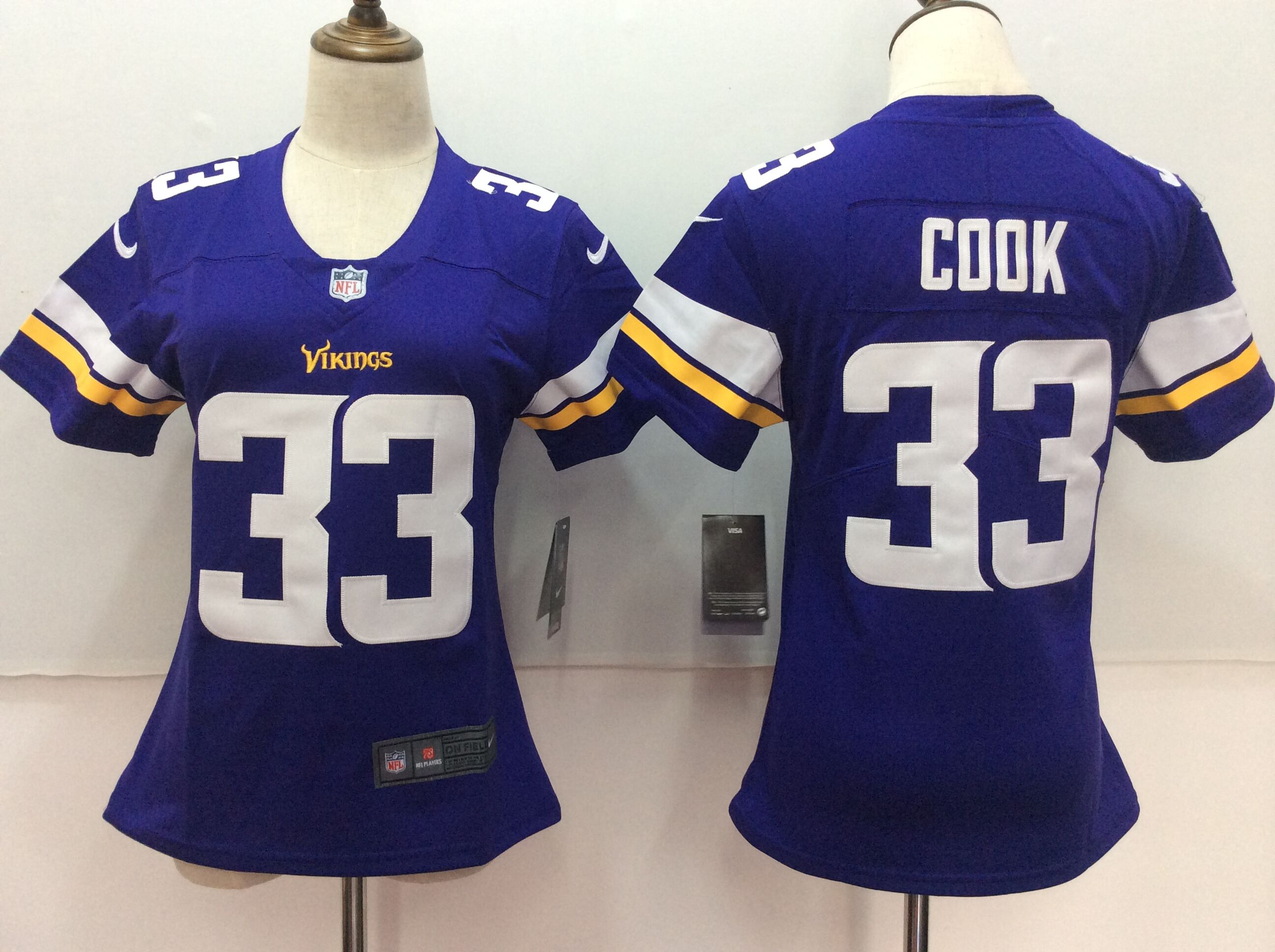 Women's Nike Minnesota Vikings #33 Dalvin Cook Purple Untouchable Limited Stitched NFL Jersey