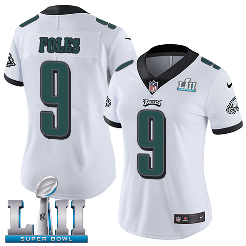 Women's Philadelphia Eagles #9 Nick Foles White Super Bowl LII Bound Game Stitched NFL Jersey