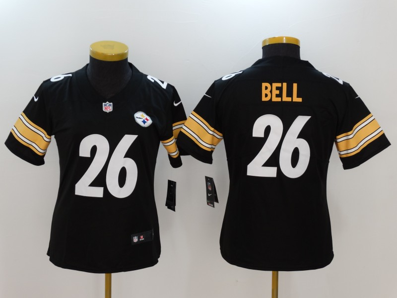 Women's Pittsburgh Steelers #26 Le'Veon Bell Black Vapor Untouchable Limited Jersey