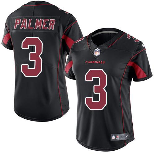 Nike Cardinals #3 Carson Palmer Black Women's Stitched NFL Limited Rush Jersey