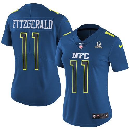 Nike Cardinals #11 Larry Fitzgerald Navy Women's Stitched NFL Limited NFC 2017 Pro Bowl Jersey