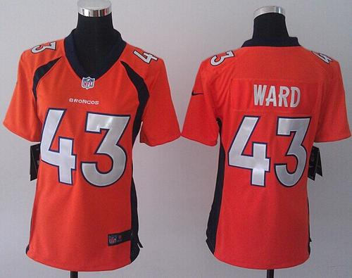 Nike Broncos #43 T.J. Ward Orange Team Color Women's Stitched NFL New Elite Jersey