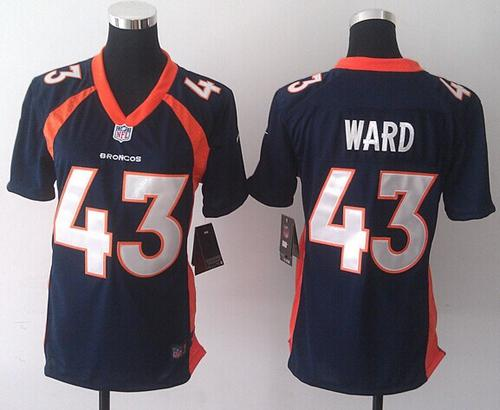 Nike Broncos #43 T.J. Ward Blue Alternate Women's Stitched NFL New Elite Jersey