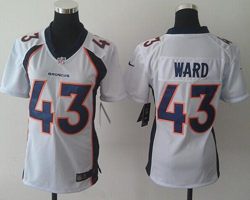 Nike Broncos #43 T.J. Ward White Women's Stitched NFL New Elite Jersey
