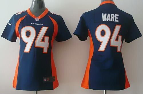 Nike Broncos #94 DeMarcus Ware Blue Alternate Women's Stitched NFL New Elite Jersey