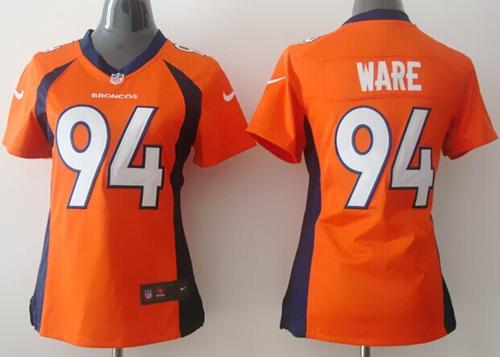 Nike Broncos #94 DeMarcus Ware Orange Team Color Women's Stitched NFL New Elite Jersey