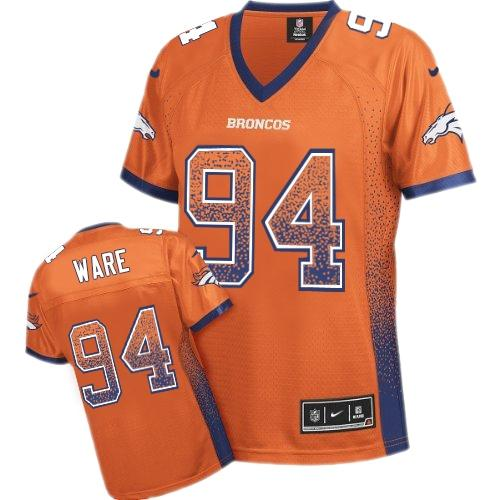Nike Broncos #94 DeMarcus Ware Orange Team Color Women's Stitched NFL Elite Drift Fashion Jersey