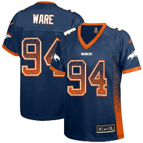Nike Broncos #94 DeMarcus Ware Blue Alternate Women's Stitched NFL Elite Drift Fashion Jersey