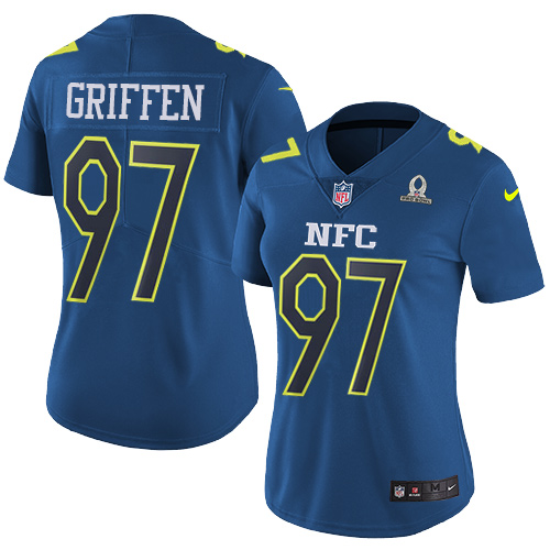 Nike Vikings #97 Everson Griffen Navy Women's Stitched NFL Limited NFC 2017 Pro Bowl Jersey