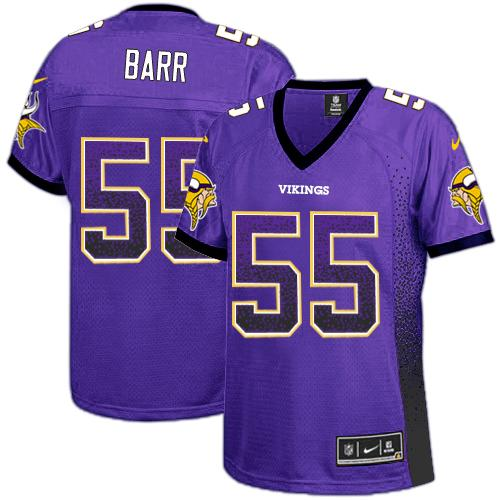 Nike Vikings #55 Anthony Barr Purple Team Color Women's Stitched NFL Elite Drift Fashion Jersey