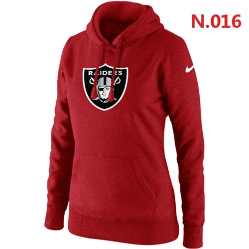 Women's Oakland Raiders Logo Pullover Hoodie Red
