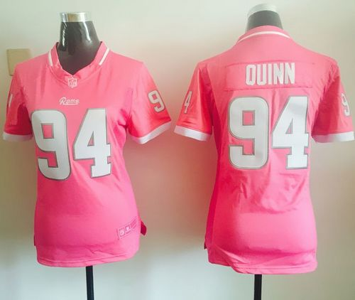 Nike Rams #94 Robert Quinn Pink Women's Stitched NFL Elite Bubble Gum Jersey