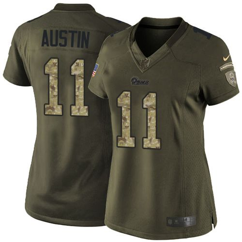 Nike Rams #11 Tavon Austin Green Women's Stitched NFL Limited Salute to Service Jersey